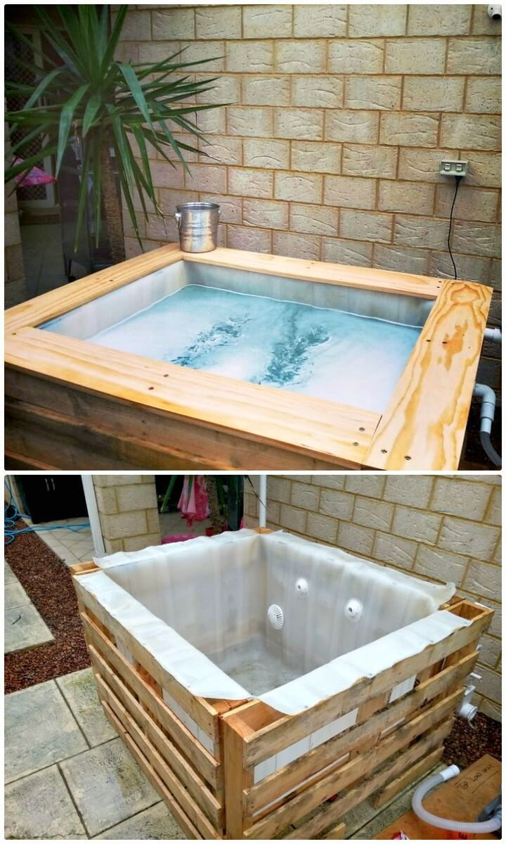 DIY Swimming Pool 1000L IBC and Some Pallets 12 Low