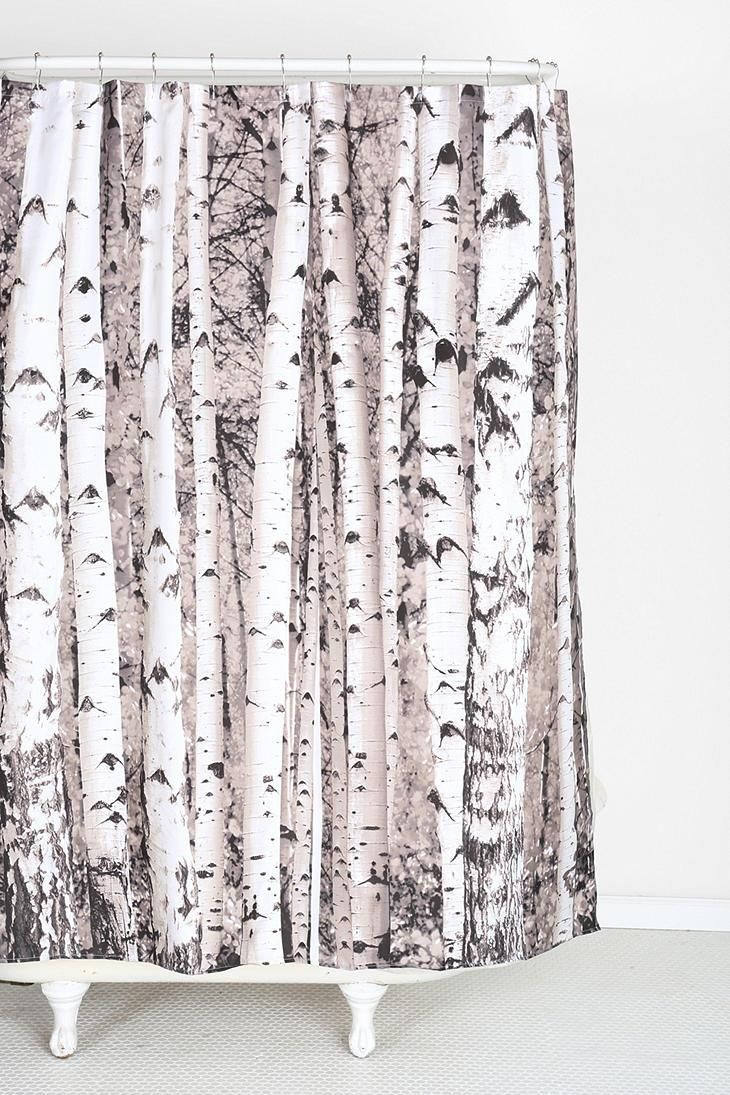 Birch Tree Shower Curtain Tree Shower Curtains Urban Outfitters