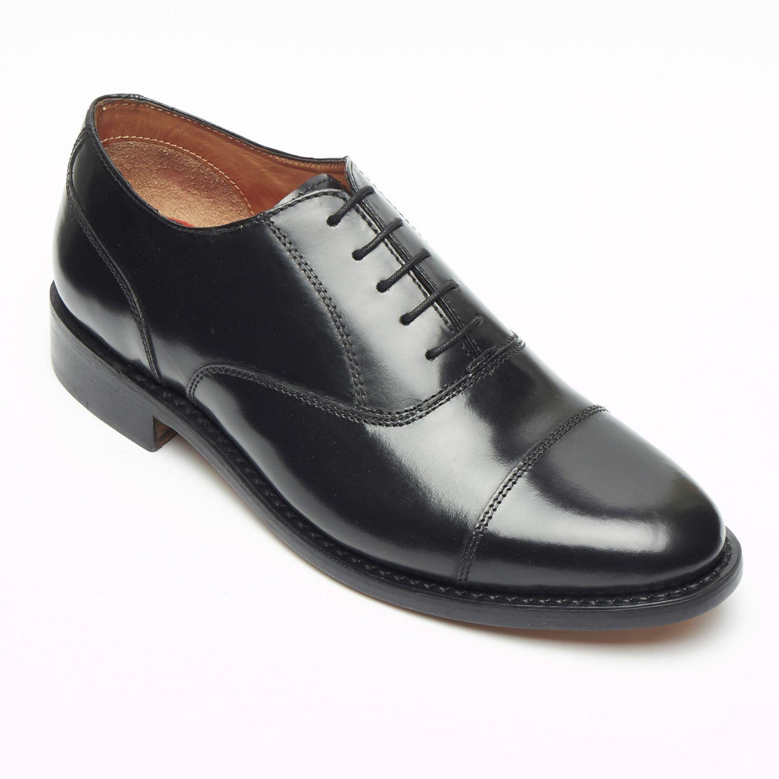 Lucini para Hombre de Cuero Negro Zapatos Oxford Goodyear Welted