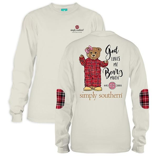 a500acd43f46 Plaid Beary Pearl Simply Southern Long Sleeve | girly outfits ...