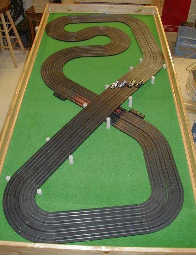 """Lot of 4 Genuine Tyco Slot Car 9""""R 1//4 Circle Tracks B5831 Race Tracks Free Ship"""
