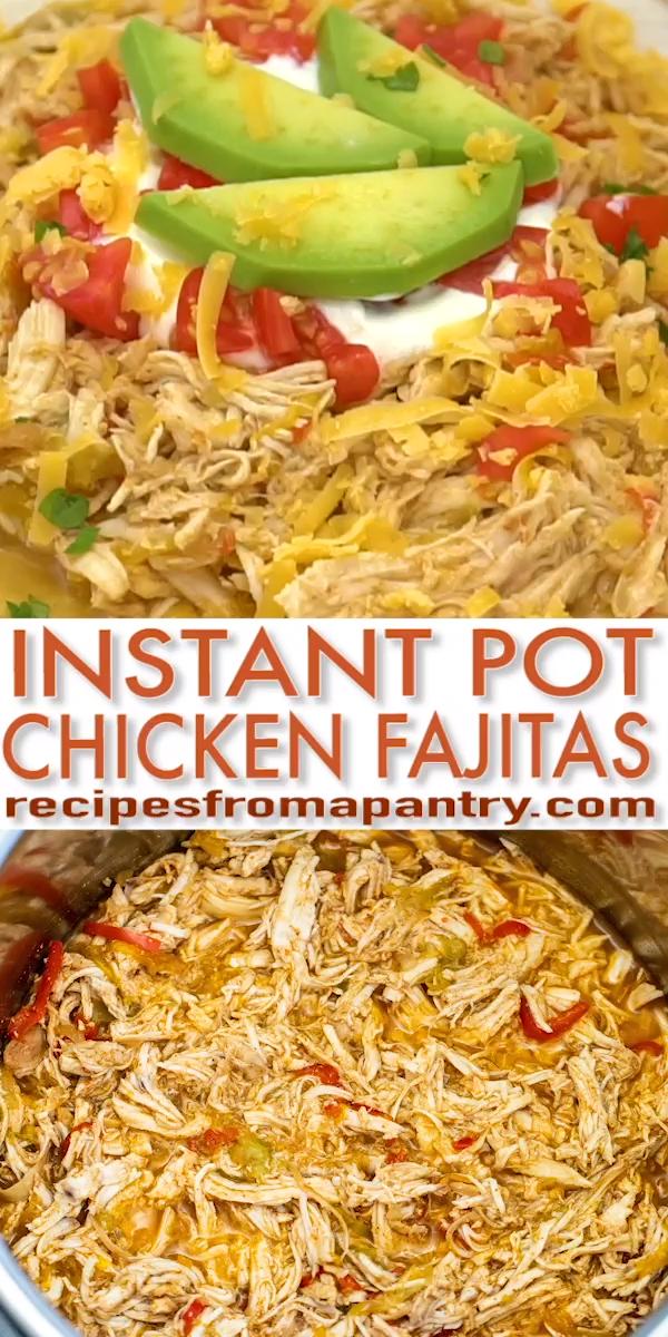 Easy Instant Pot Chicken Fajitas Recipe Video #instantpotchickenrecipes