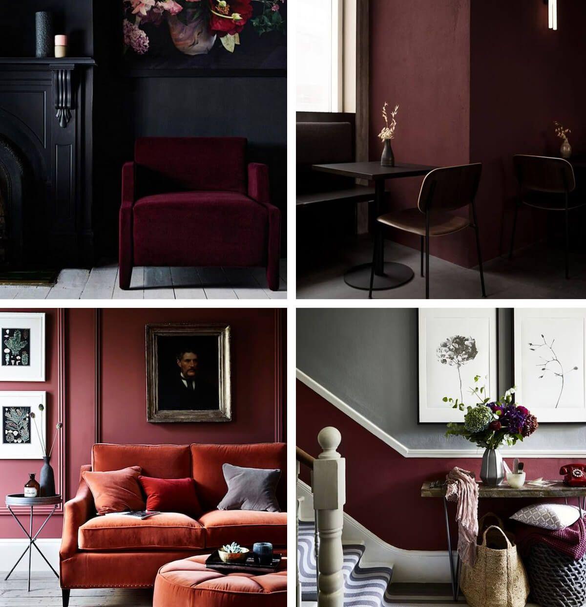 Burgundy Red Autumn Winter 17 Interior Design Trend Burgundy Walls Home Trends Interior Design
