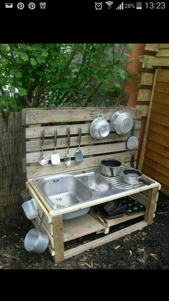 Superb Mud Kitchen (also Known As An Outdoor Kitchen Or Mud Pie Kitchen) Is One Of  The Best Resources In DIY Projects For Kids To Play Outside As Kids  Playhouse.