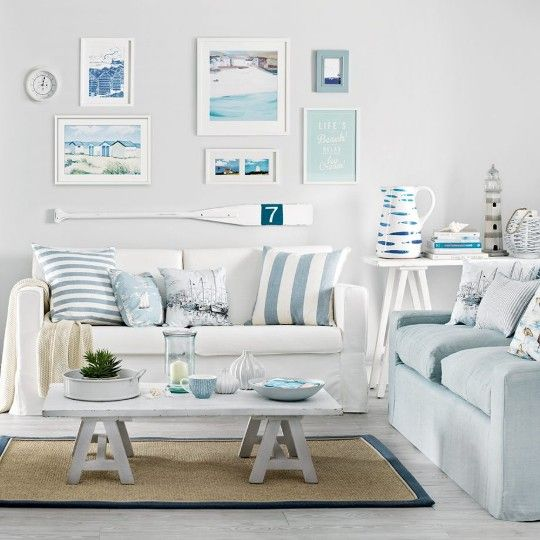 Neutral Coastal Living Room Decor Ideas with a Beach Vibe from House to Home images