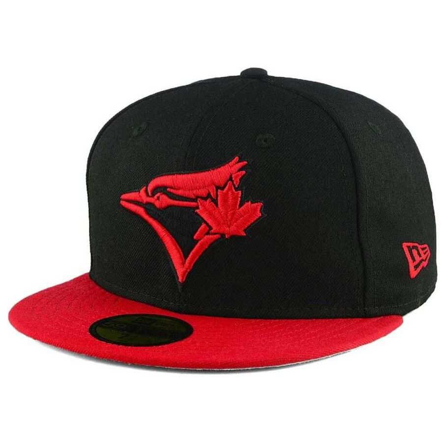 * Toronto Blue Jays New Era MLB Black & Red 59FIFTY Fitted