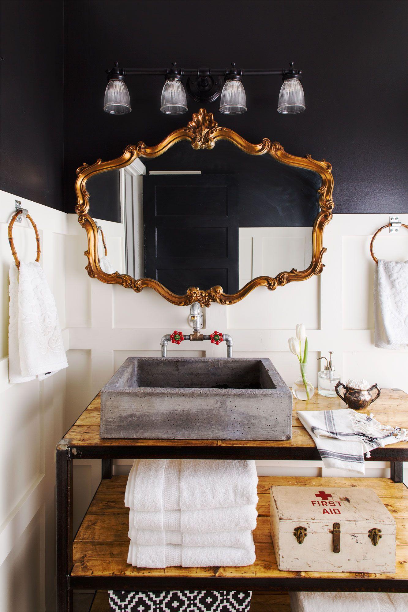 Trinityu0027s husband Jason made the vanity with