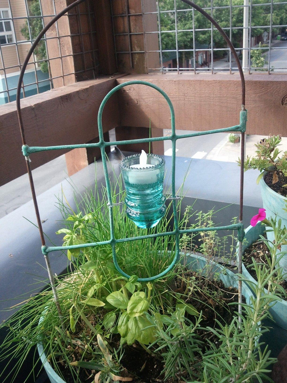 garden wire lantern