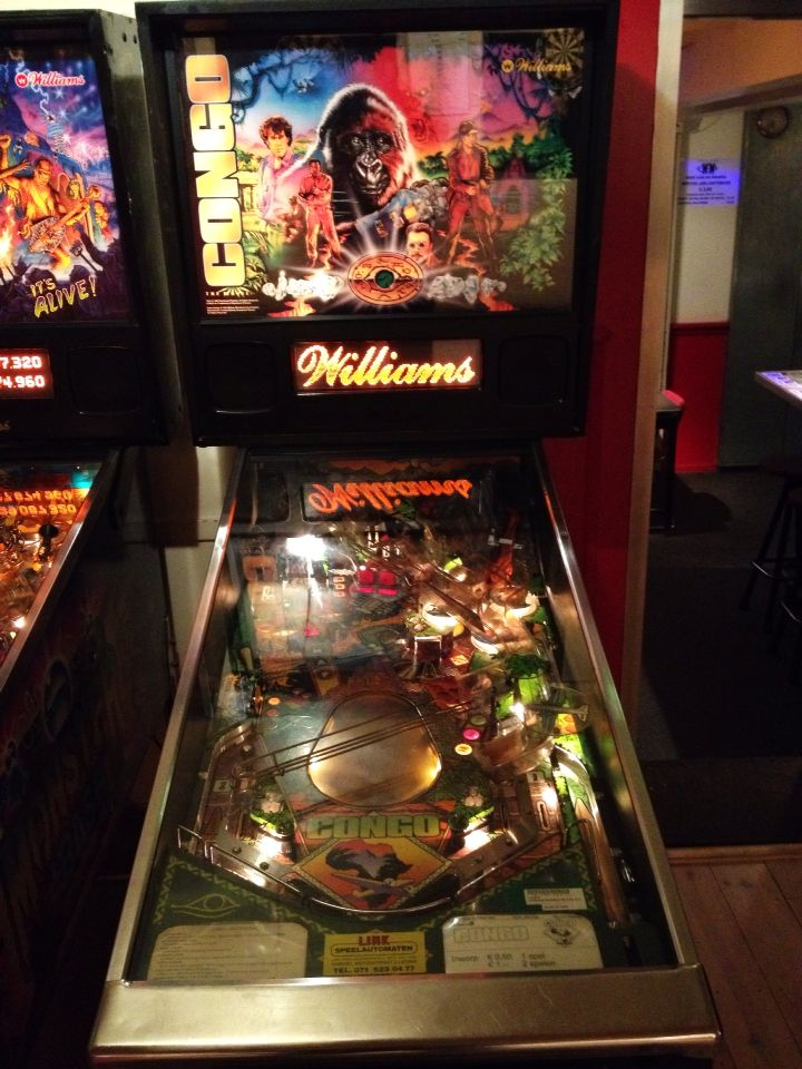 congo pinball machine made by williams