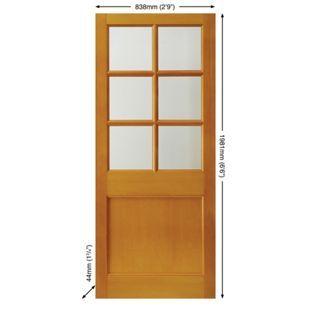 Cambridge Clear Glazed External Door - 6 Light - 838mm wide from Homebase .co.  sc 1 st  Pinterest & Cambridge Clear Glazed External Door - 6 Light - 838mm wide from ...
