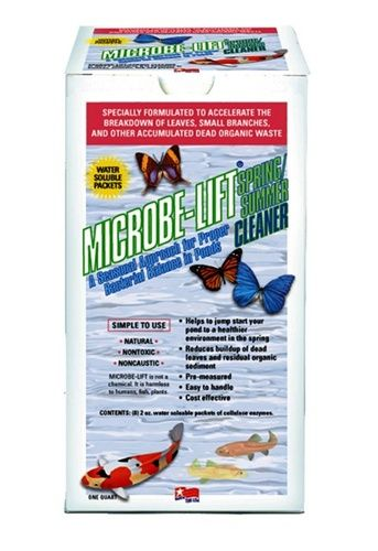 Microbe-Lift Spring/Summer Cleaner 8 Packets of Beneficial Bacteria. Ideal for breaking down leaves, twigs and other accumulated problems in your koi pond.