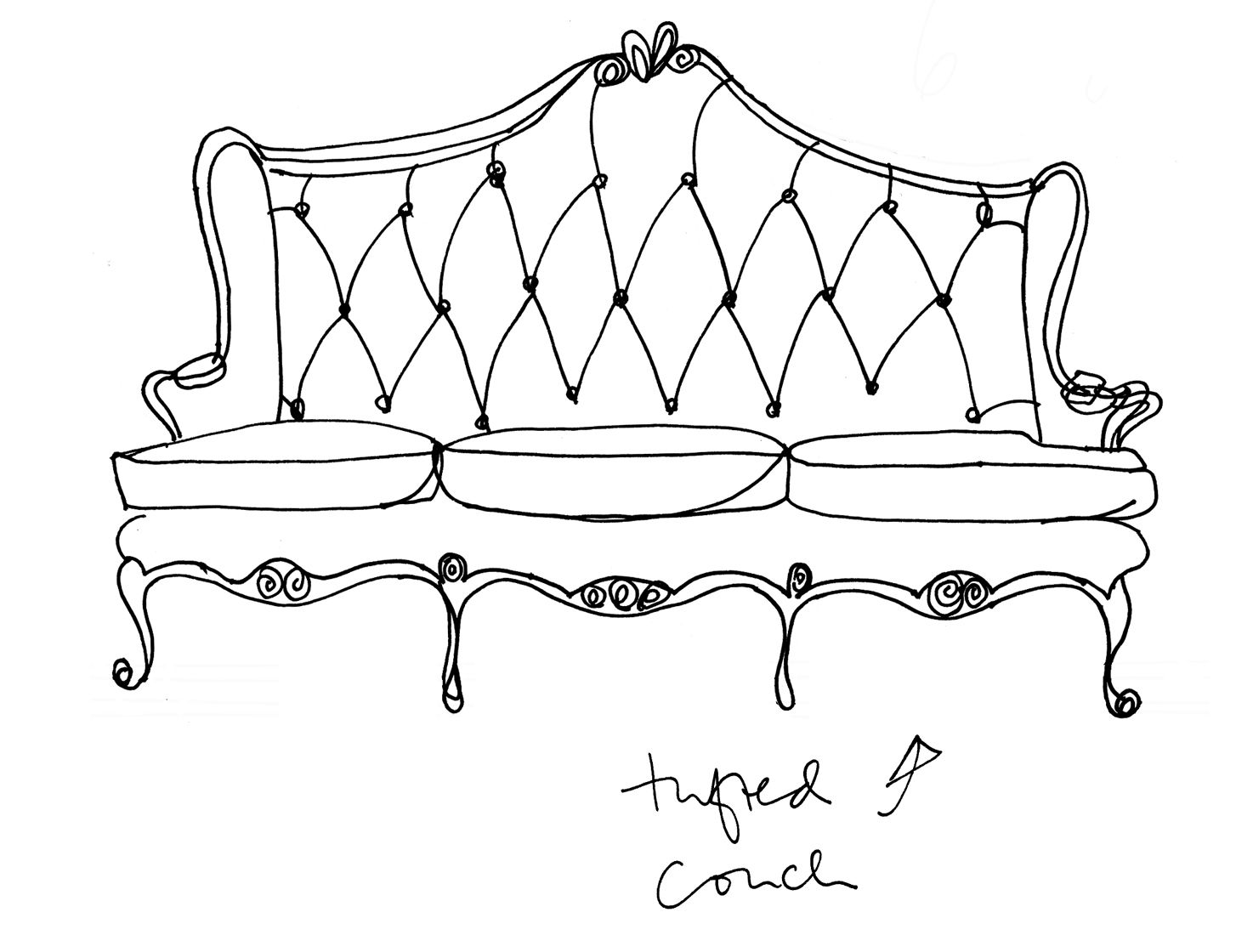 couch drawing. Chaise Couch-thingy. Couch Drawing S