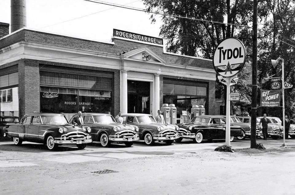 1950\'S Rogers Garage Inc. Packard Dealership | Vintage Car ...