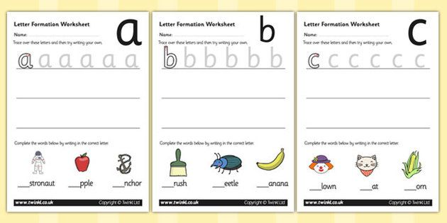 Number Names Worksheets : printable letter formation sheets ~ Free ...