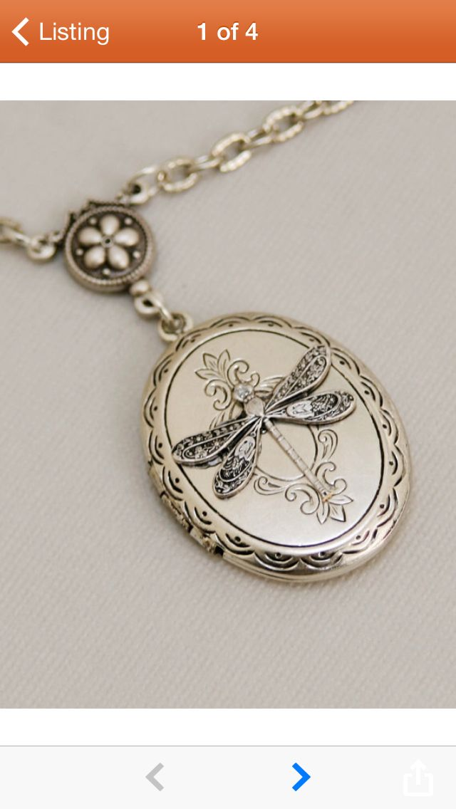 Dragonfly locket from Etsy.