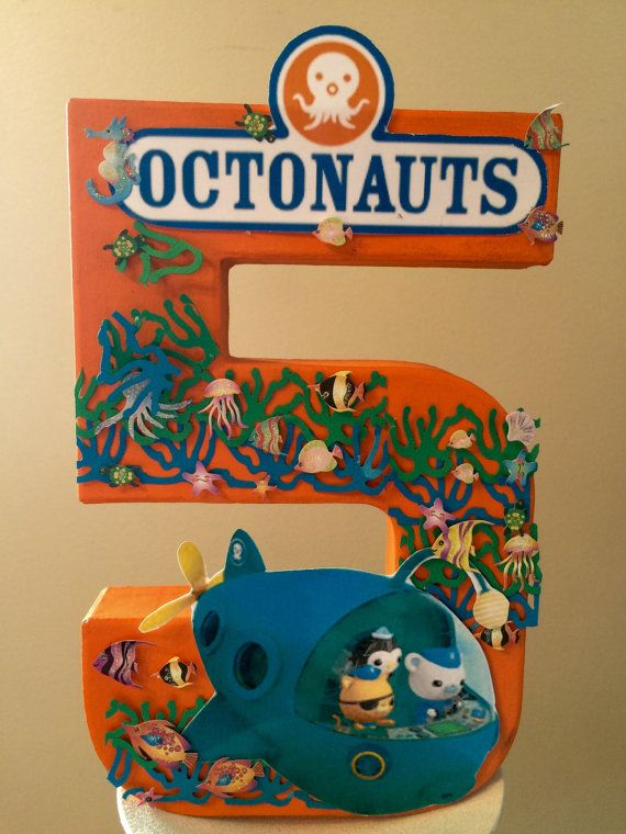 Octonauts Birthday party Number Centerpieces by angilee123 on Etsy