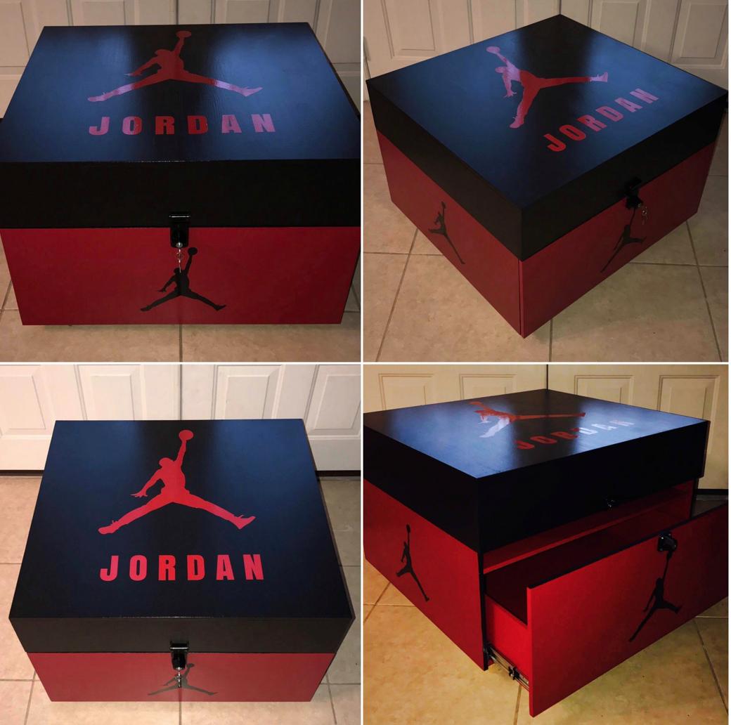 Jordan Shoe Storage Box   Shoe box storage, Jordan shoe box ...