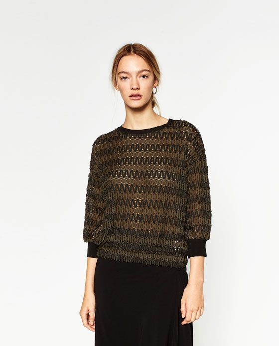 Image 2 of CROPPED JACQUARD SWEATER from Zara | Clothes and such ...