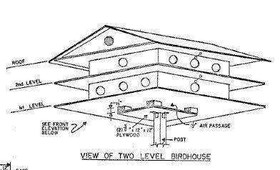 19 Birdhouse Plans Bluebird Boxes Multi Level Martin Homes And More Martin Bird House Bird Houses Bird House Plans