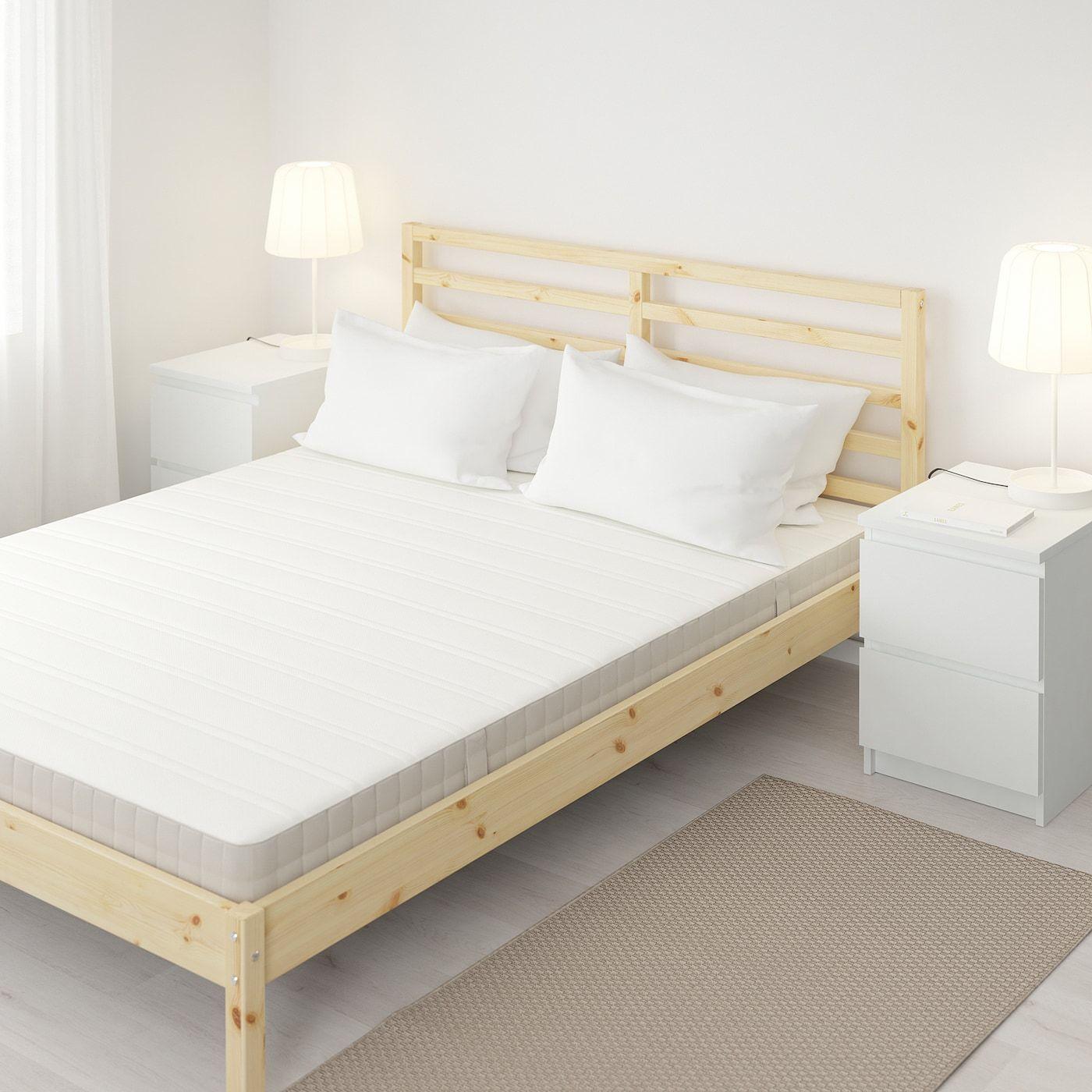 HASVÅG Spring mattress medium firm, beige Queen in 2020
