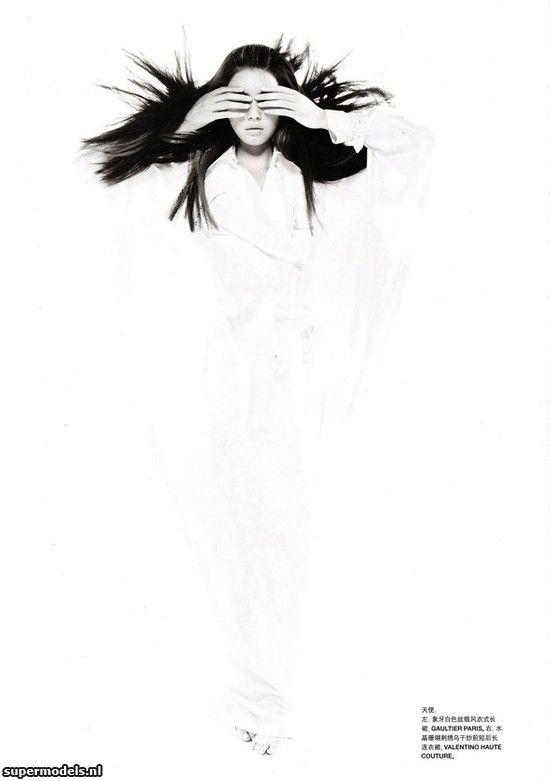 Liu Wen in 'Angel & Devil' - Photographed by Tiziano Magni (Numéro China #01 September 2010)