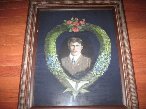 Antique Victorian Remembrance Mourning Original Painting Signed Dated 1910 24x20 | eBay
