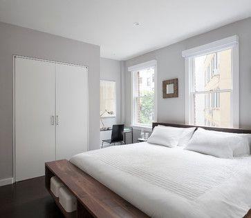 Benjamin Moore Cement Gray Via East Village Duplex Modern Bedroom New York General Embly