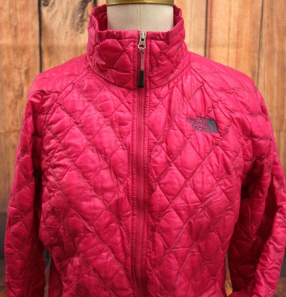 The North Face Womens Pink Thermoball Puffer Bomber Winter Coat Jacket Sz S #TheNorthFace #PufferJacket   Winter coats jackets. North face women ...