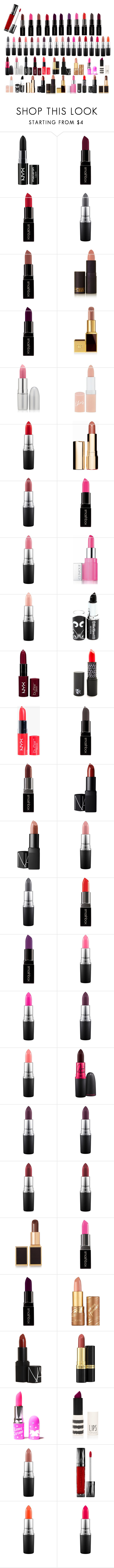 """""""Untitled #148"""" by softic-23 ❤ liked on Polyvore featuring NYX, Smashbox, MAC Cosmetics, Lipstick Queen, TheBalm, Rimmel, Clarins, Clinique, NARS Cosmetics and Tom Ford"""
