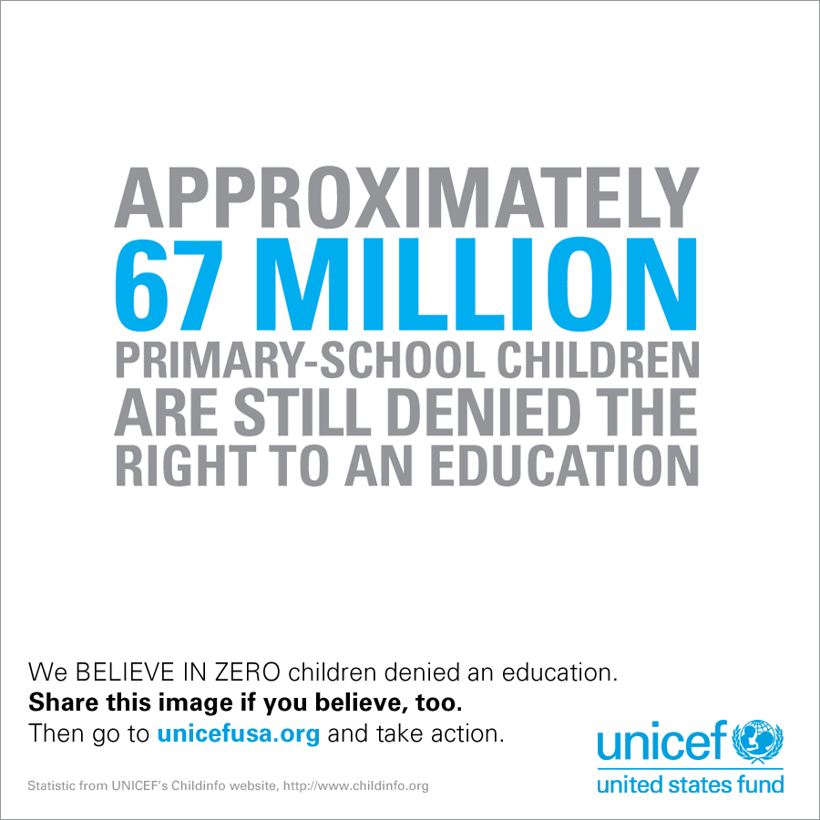 They say a world of ZERO children denied access to education is impossible. But we BELIEVE.