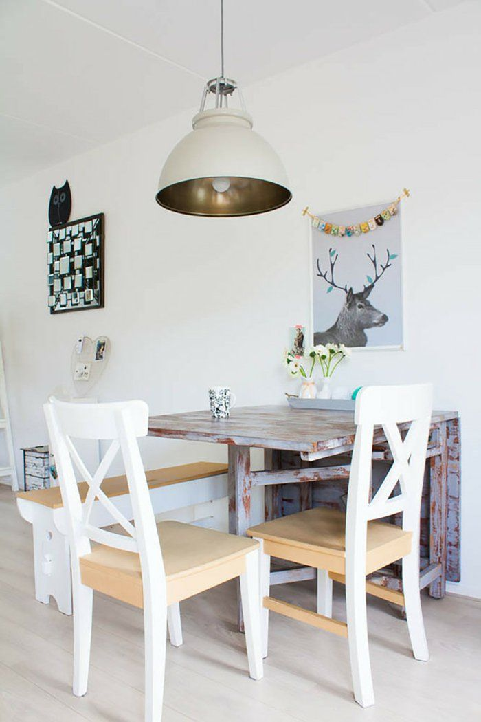 la table de cuisine pliante 50 id es pour sauver d 39 espace petite salle. Black Bedroom Furniture Sets. Home Design Ideas