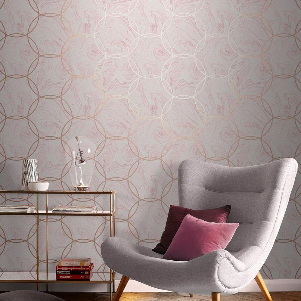 Aqueous Geo Quartz Wallpaper Pink Wallpaper Graham