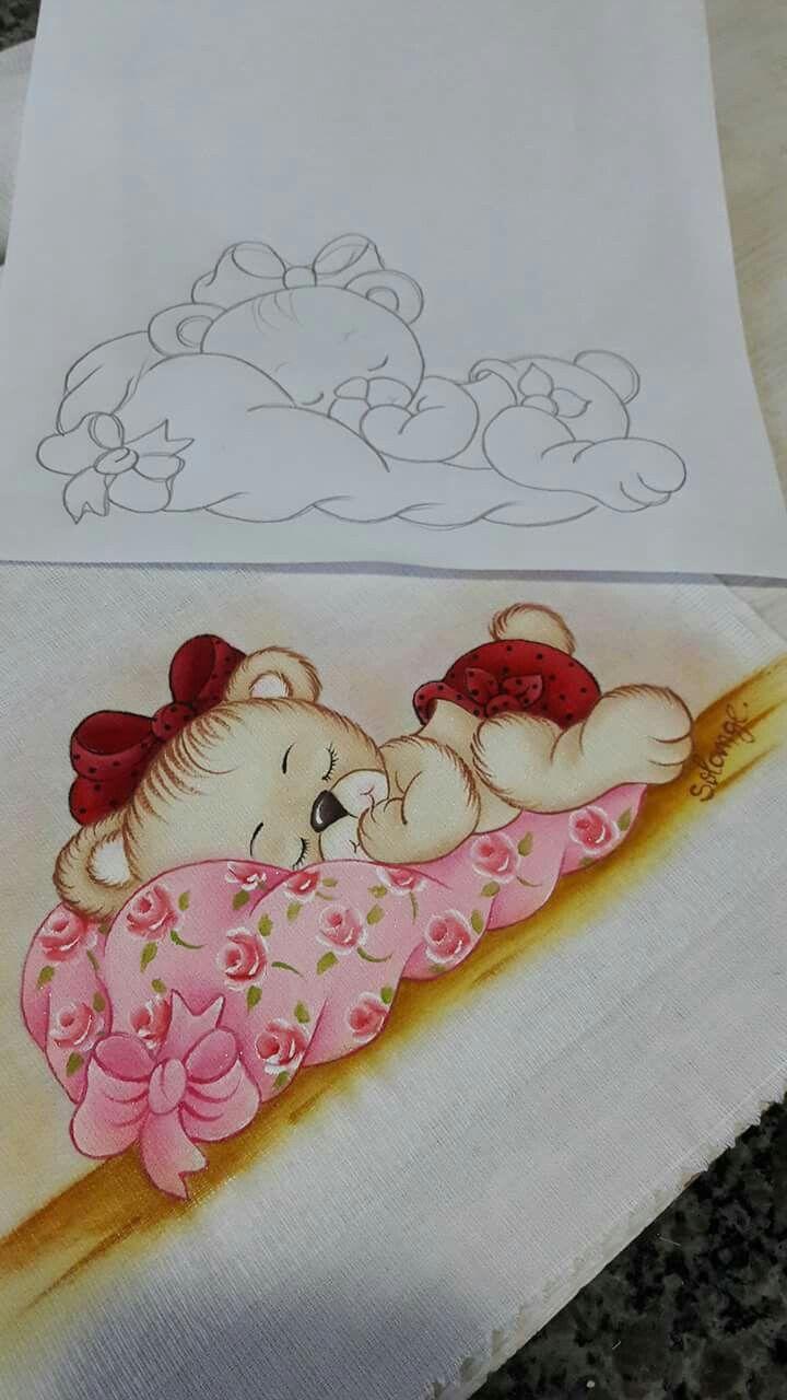 Fraldas pintura pintura em fraldas fraldas - Dibujos para pintar en tela infantiles ...