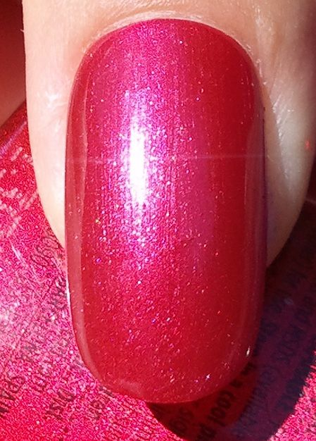 CND Shellac layering Hot Chilis over Red Baroness | Gel ...