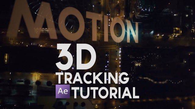 After Effects Tutorial 3d Motion Tracking With 3d Camera Tracker