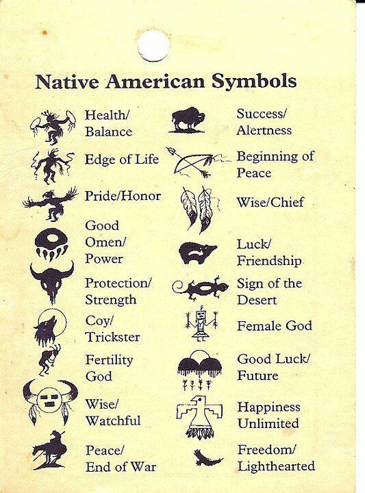 Native American Warrior Symbol Tattoos