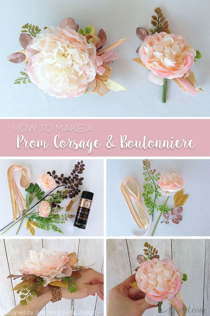 How To Make A Prom Corsage Boutonniere Pinterest Artificial