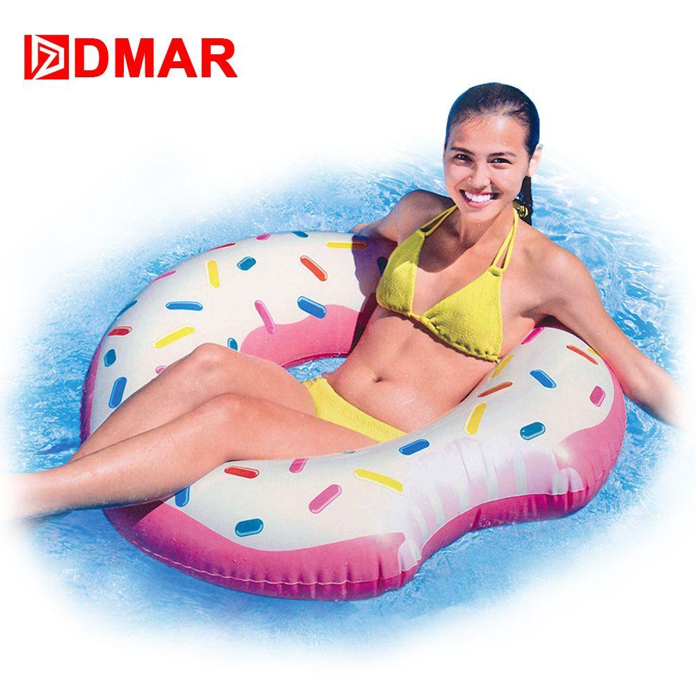 dmar 107 cm 42 pollici gonfiabile donut anello di nuoto cerchio
