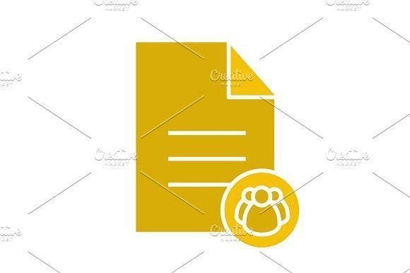 Business Infographic  Business Infographic  Petition Glyph Color