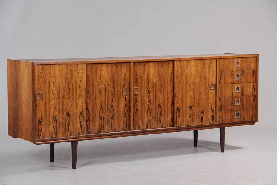 Mid Century Danish Rio Rosewood Low Sideboard 1960 S Danish Design Vinterior Co Low Sideboard Danish Design Home Decor