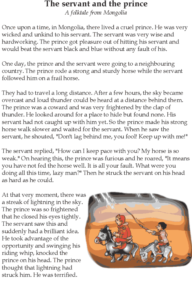 Grade 5 Reading Lesson 11 Fables And Folktales The Servant And The ...