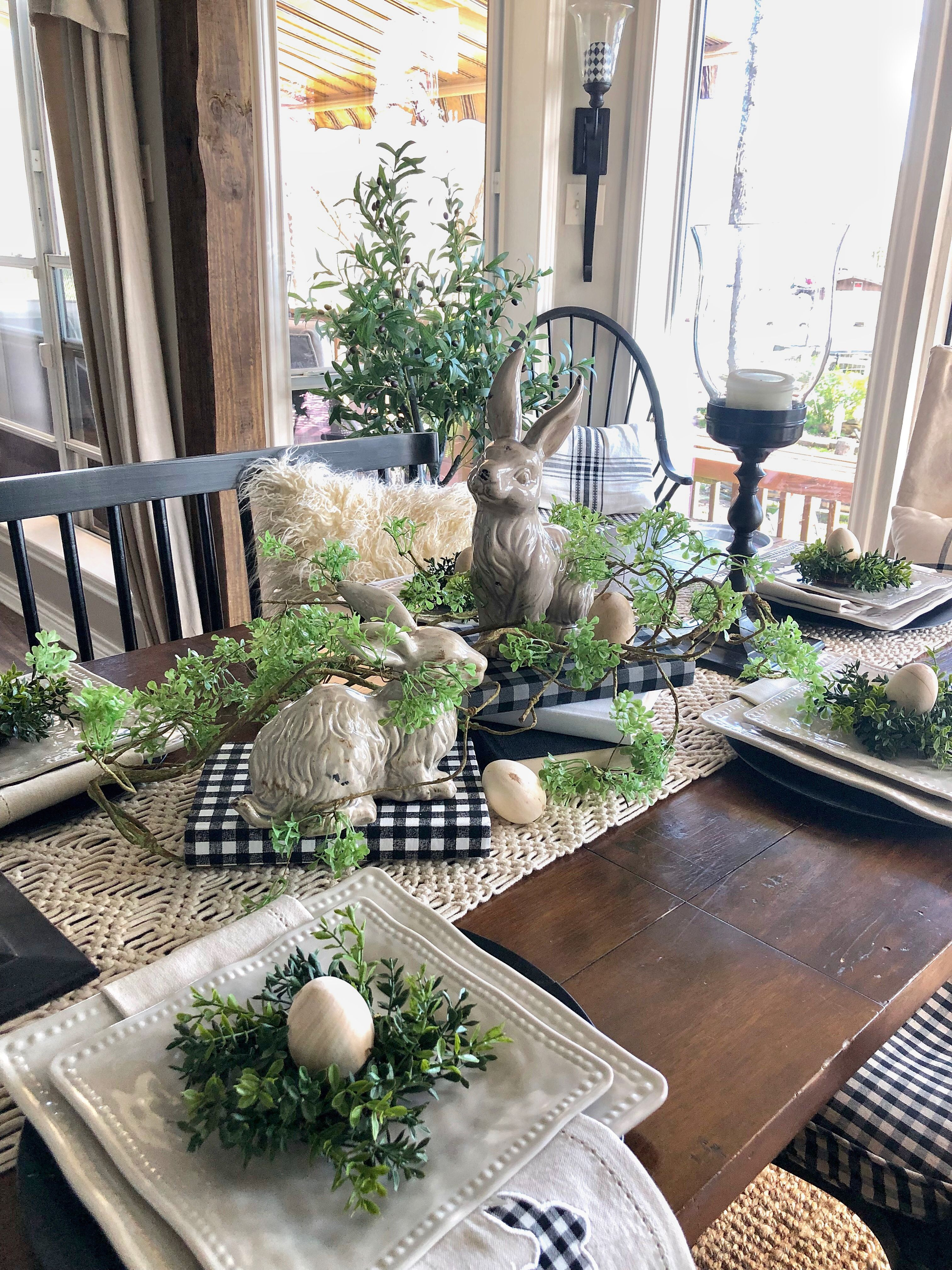 In This Post I M Sharing 3 Easter Table Theme Ideas For Your Easter Table Easter Decor Ideas Spring Table Decor Easter Table Decorations Spring Easter Decor