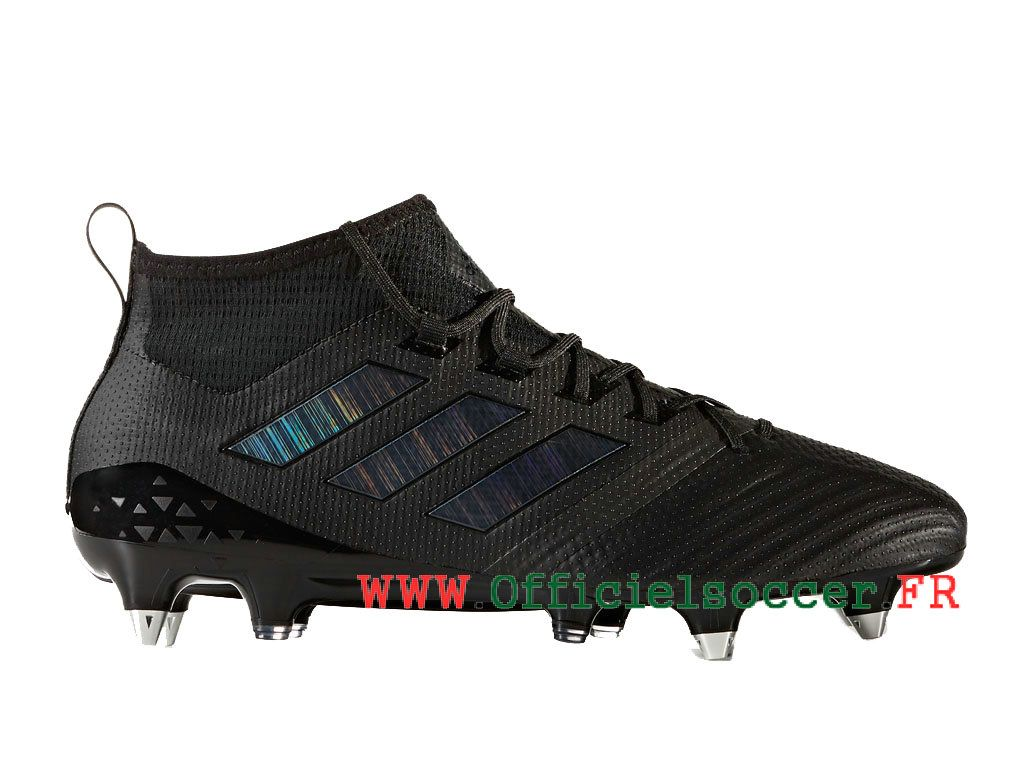 new arrival 62f46 729fd Adidas ACE 17.1 Terrain gras Crampons de Football Homme Noir   Bleu  CG3370-1804020368-Chaussure de Football   Maillot Foot Baskets   2018    officielsoccer. ...