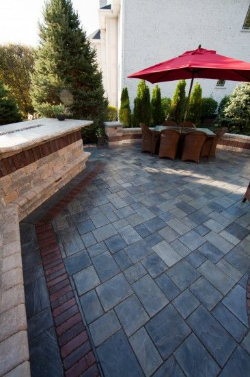 Patio by Unilock with Richcliff and Copthorne paver ... on Unilock Patio Ideas id=80796