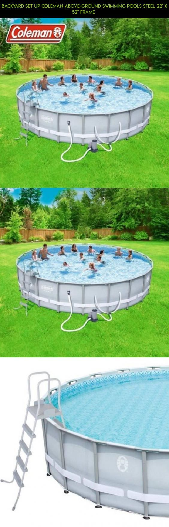 backyard set up coleman above ground swimming pools steel 22 u0027 x 52