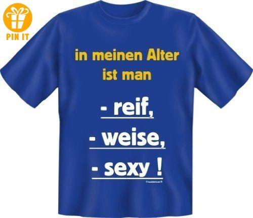 Rahmenlos® In meinem Alter ist man... Fun T-Shirt, royalblau