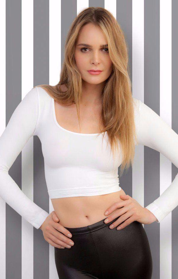 725f5a32cd74 Short Cropped Shirt Cropped basic shirt. Soft microfiber