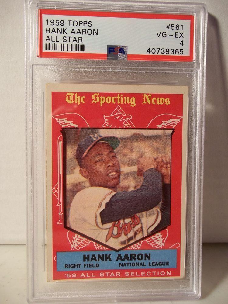 1959 topps hank aaron psa vgex 4 baseball card 561 mlb
