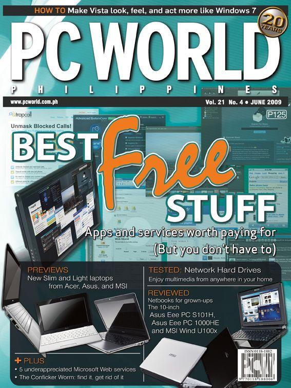 PCWorld Philippines June 2009 cover