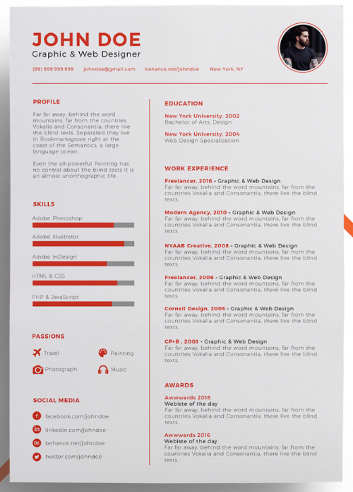 Use One Of These Unique Versatile Resume Templates To Make A Big
